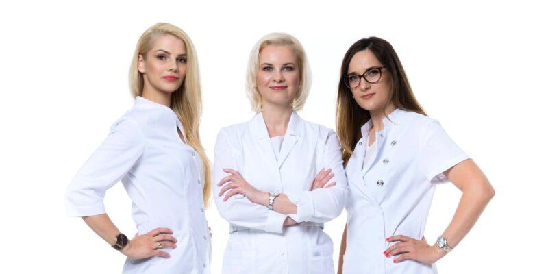BellaDerma komanda - Ramunė Petrosian, Indrė Domarkaitė-Jakovlevė ir Rasa Mačiulienė